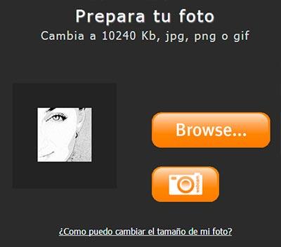 Carga tu foto