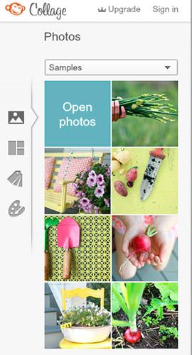 Opciones collage