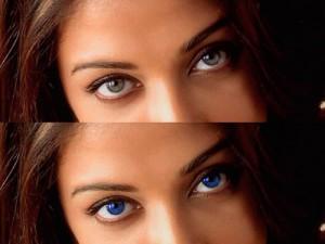 Cambiar color de ojos con programa online, Sumo Paint