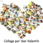 San Valentín: Collage de fotos en forma de corazón