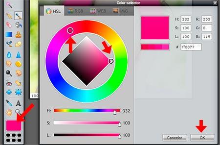 Escoger color para pintar cabello