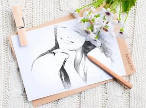 Marco de foto con dibujo a lápiz con PicJoke