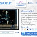 WriteOnIt, web para crear fotomontajes